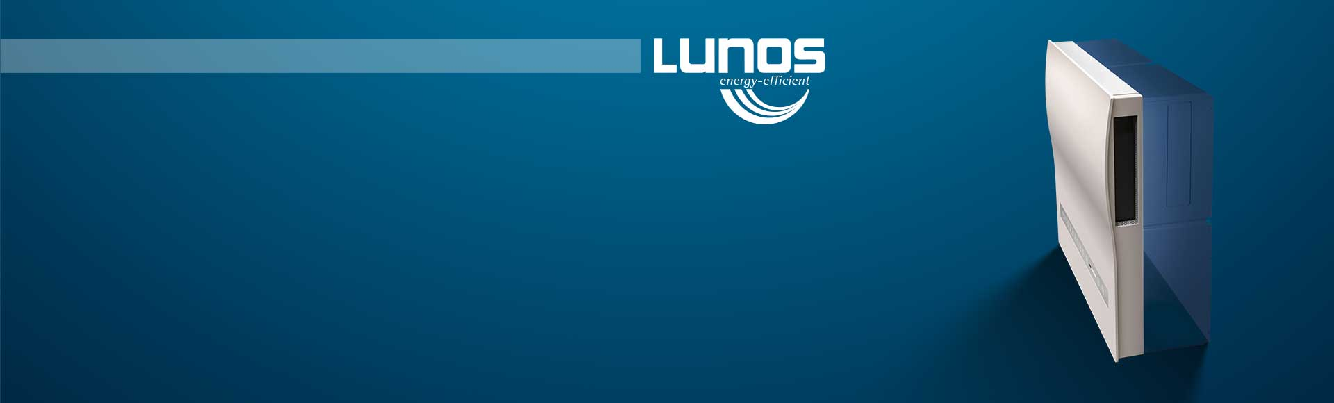 wall-mounted LUNOS module with sleek cover plate design